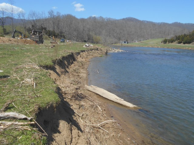 This photo shows how eroded the river banks are. Credit: USFWS