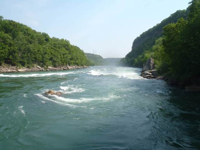 The Niagara Gorge, about 3 miles downstream from the infamous Niagara Falls. Photo credit: USFWS