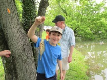 Lucas enjoyed a day catching fish with his dad.