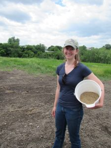 Katie with seeds