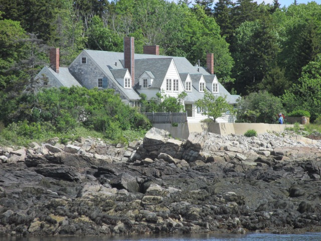 The historic Ewing house on Timber Point as seen from Timber Island. Photo by Kim Snyder.
