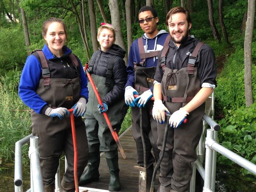 From left to right we have Logan Kline, Sarah Carpe, Sheldon Mason and Adler (AJ) Pruitt