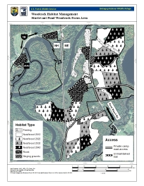 Map of woodcock demonstration area.