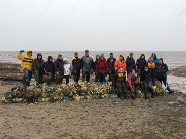 East Windsor Middle School students and families helped build oyster reefs