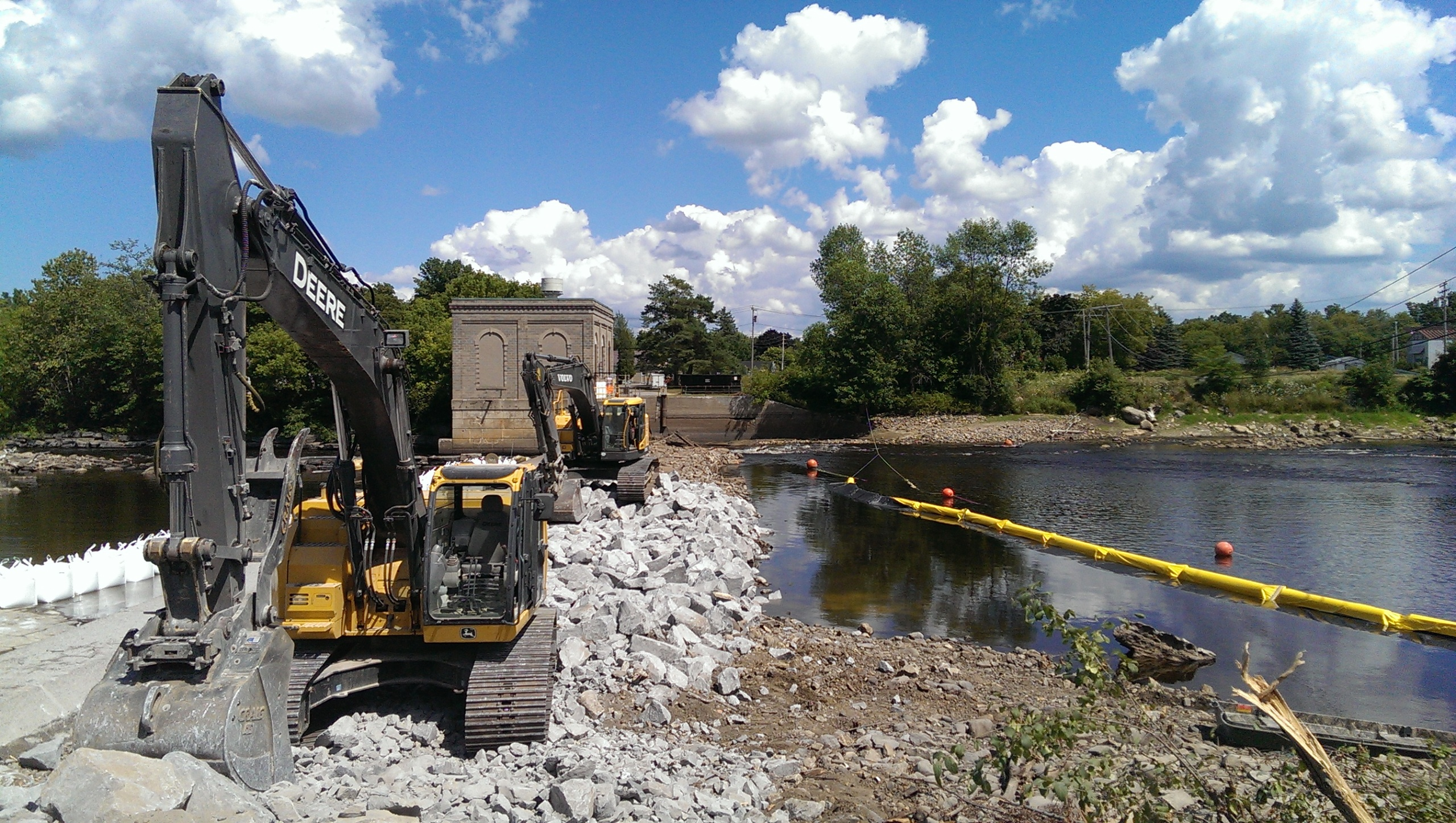 Heavy machinery at hogansburg dam