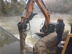 March 30, 2016: Second dam is deconstructed! Credit: Nick Millett/USFWS