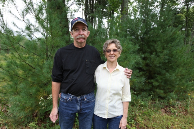 Rick and Donna Ambrose, landowners and cottontail conservationists. (Photo credit: Kate Whitacre, USFWS)