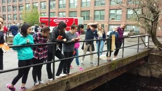 Andover High School students take measurements. Credit: Seema Gupte
