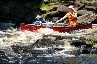 Rapids make paddling exciting! Credit: Floyd Greenwood