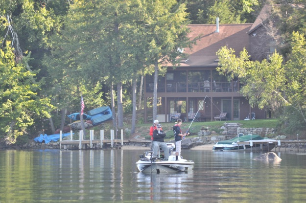 Bass fishing allows students who may not otherwise participate in school athletics to get involved! Photo credit: Sporting their school colors on the lake. Photo credit: New Hampshire Interscholastic Athletic Association