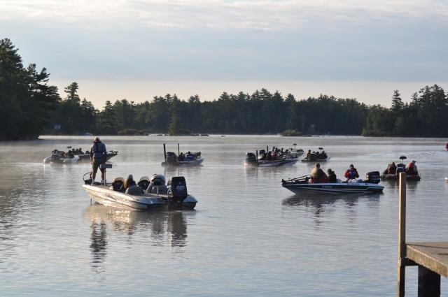 Students bass fishing as a school sport on Lake WinnipesaukeeCredit: New Hampshire Interscholastic Athletic Association