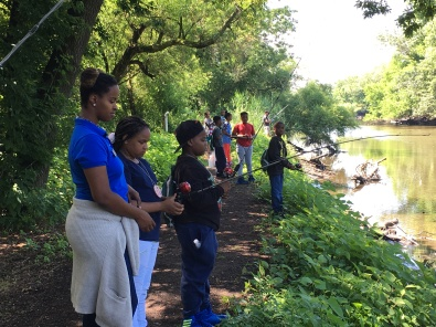 Many of our first time anglers getting comfortable. Photo credit: Tylar Greene/USFWS