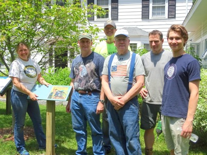 0. Nicole Vachon and Volunteers install StoryWalks at NANFH and Moose Audubon Wildlife Sanctuary
