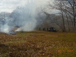 Controlled burn at Rachel Carson National Wildlife Refuge.