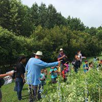 Refuge Volunteer Joe Woodward points out butterflies-Credit Max lonzanida USFWS