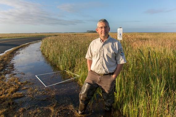 Matt Whitbeck, supervisory wildlife biologist for Chesapeake Marshlands National Wildlife Complex. Credit: Steve Droter