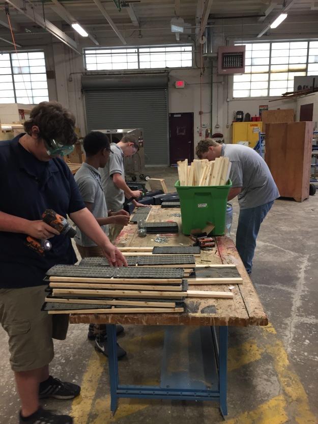 Fulton High school construction class_Knoxville_TN