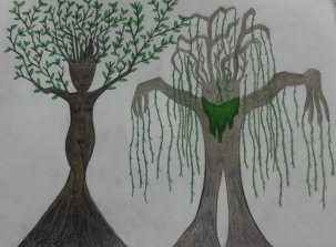 """""""This piece I drew during my sophomore year of high school."""" (2012)"""