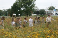 Shue-Medil Middle School students exploring their meadow, Credit: Rick Mckowski
