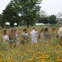 Shue-Medil Middle School students exploring their meadow, Credit: Rick Mckowski