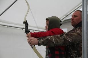 4. Brayden Kotarski at Archery station