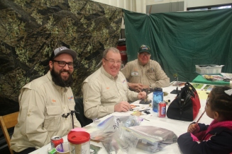Fly Fisher International provide fly-fishing demonstrations throughout the day