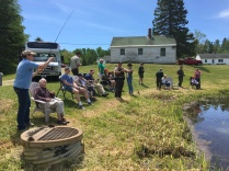 Friends and family spend the day fishing with U.S. Veterans at the Moosehorn National Wildlife Refuge in Baring, Maine, for the Service's Annual Veteran's Fishing Day.
