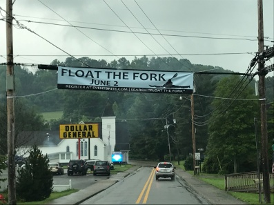 Float the Fork Town Banner. FWS McMunigal
