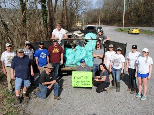 Miles of river were cleaned, with 61000 pounds of trash removed from the West Fork River, thanks to the coordination and dedication of these volunteers. Credit_ N. Millett, FWS.