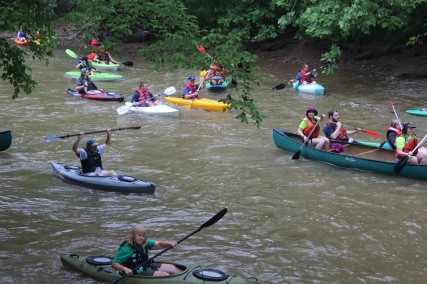 Paddlers had a lot of fun Floating the West Fork. Credit_ Haley Hutchins, AmeriCorps