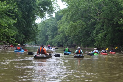 Hope floats on the West Fork River where more than 160 paddlers came out to Float on a misty day in June. Credit_ Haley Hutchins, AmeriCorps