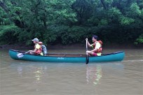 Canoers enjoy the beautiful and restored West Fork River. Credit_ Haley Hutchins, AmeriCorps